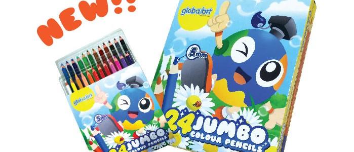 24 Jumbo Colour Pencils